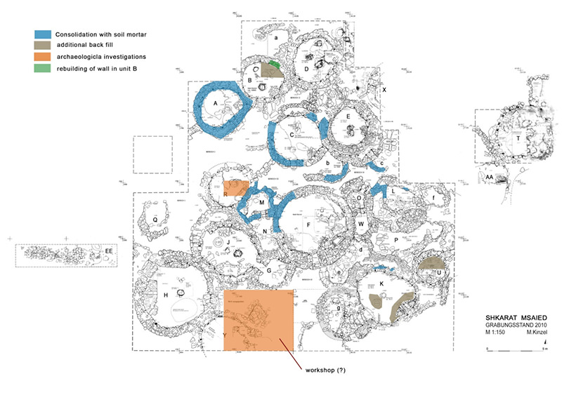 SM Site plan with areas of activities 2014